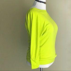 Cynthia Rowley Dolman Neon Yellow Knit Top size M